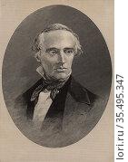 David Dale Owen (1808-1860), Scottish-born American physician and geologist. Редакционное фото, агентство World History Archive / Фотобанк Лори