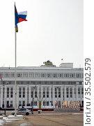 Администрация Тамбовской области, вид со стороны площади Ленина. Редакционное фото, фотограф Владимир Макеев / Фотобанк Лори