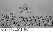 Captives, persia by louis dubeux, editor firmin didot 1841. (2009 год). Редакционное фото, фотограф Louis Bertrand / age Fotostock / Фотобанк Лори