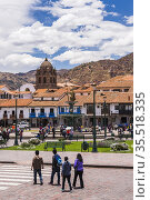 Plaza de Armas, Cusco (aka Cuzco, Quscsu or Quosco), Cusco Region... Стоковое фото, фотограф Matthew Williams-Ellis / age Fotostock / Фотобанк Лори