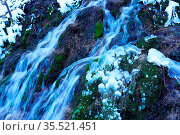 Talheimer Wasserfall, Wasserfall des Wangenbaches, Schwäbische Alb... Стоковое фото, фотограф Zoonar.com/Jürgen Vogt / easy Fotostock / Фотобанк Лори