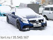 Mercedes-Benz Mercedes-Benz C63 AMG. Редакционное фото, фотограф Art Konovalov / Фотобанк Лори