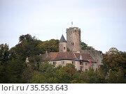 The medieval Castle Krautheim, Hohenlohe, Baden-Württemberg, Germany. Стоковое фото, фотограф Zoonar.com/Marc Schmerbeck / easy Fotostock / Фотобанк Лори