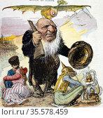 Kruger in Europe': (Stephanus Johannes) Paulus Kruger (1825-1904) ... Редакционное фото, агентство World History Archive / Фотобанк Лори