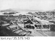 Russo-Japanese War 1904-1905:  View of Port Arthur a few days before... Редакционное фото, агентство World History Archive / Фотобанк Лори