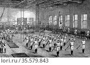 Young Men's Christian Association (YMCA) gymnasium, Longacre, London... Редакционное фото, агентство World History Archive / Фотобанк Лори