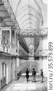 Reading Gaol, Berkshire, England. Opened 1844 and on the same plan... Редакционное фото, агентство World History Archive / Фотобанк Лори