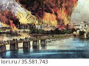 American Civil War: The fall of Richmond, Virginia, 2 April 1865. ... Редакционное фото, агентство World History Archive / Фотобанк Лори