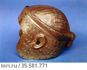 Gold helmet from Mesopotamia. 2,500 BC. Iraq Museum. Редакционное фото, агентство World History Archive / Фотобанк Лори