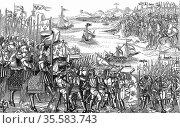 Saint Louis (Louis IX of France) on his first (the Sixth) crusade... Редакционное фото, агентство World History Archive / Фотобанк Лори