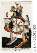 Tarot card. The Juggler or Mountebank. Parisian Tarot 1500. Tarot... Редакционное фото, агентство World History Archive / Фотобанк Лори