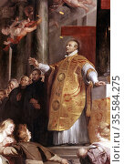 St Ignatius Loyola ( Inigo Lopez de Rocalde 1491-1556) Spanish soldier... Редакционное фото, агентство World History Archive / Фотобанк Лори