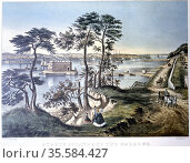 Staten Island and the Narrows New York viewed from Fort Hamilton. ... Редакционное фото, агентство World History Archive / Фотобанк Лори