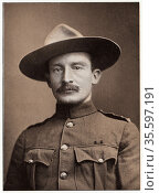 Robert Stephenson Smyth Baden-Powell (1857-1941) British soldier; ... Редакционное фото, агентство World History Archive / Фотобанк Лори