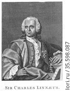 Linnaeus  (Carl von Linne - 1707-1778) Swedish naturalist, holding... Редакционное фото, агентство World History Archive / Фотобанк Лори