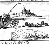 Method of laying an artillery piece on target using Gunner's scale... Редакционное фото, агентство World History Archive / Фотобанк Лори