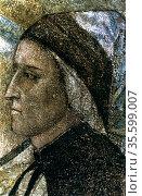 Dante Alighieri' (1265-1321) Italian poet: portrait by Giotto di ... Редакционное фото, агентство World History Archive / Фотобанк Лори