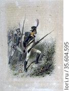 Light Infantry Skirmisher.  From 'Napoleon 1er et la Garde Imperiale... Редакционное фото, агентство World History Archive / Фотобанк Лори