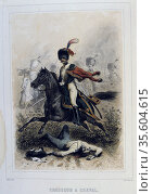 Light Cavalryman. From 'Napoleon 1er et la Garde Imperiale' by Eugene... Редакционное фото, агентство World History Archive / Фотобанк Лори