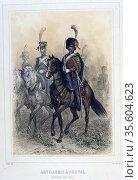 Horse Artillery:  Staff Sergeant.  From 'Napoleon 1er et la Garde... Редакционное фото, агентство World History Archive / Фотобанк Лори