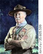 Robert Stephenson Smyth Baden-Powell (1815-1941) lst Viscount Baden... Редакционное фото, агентство World History Archive / Фотобанк Лори