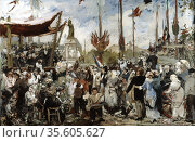 The 14th of July, 1880' study by Alfred Philippe Roll (1846-1919), ... Редакционное фото, агентство World History Archive / Фотобанк Лори