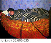 Félix Edouard Vallotton (1865 – 1925) Swiss painter. Femme couchée... Редакционное фото, агентство World History Archive / Фотобанк Лори