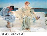 A painting of Pyramus and Thisbe entitled Ask Me No More (1906) by... Редакционное фото, агентство World History Archive / Фотобанк Лори