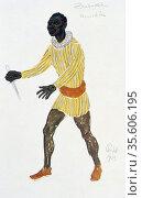 Costume design for Monostatos, 1913.  Monostatos, a Moor in the service... Редакционное фото, агентство World History Archive / Фотобанк Лори