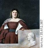 Portrait of a Lady 'La Schiavona'  (Woman of Dalmatia) c1510-1512... Редакционное фото, агентство World History Archive / Фотобанк Лори