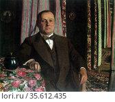 Portrait of Mr Hasen' 1913.  Felix Edouard Vallotton (1865-1925) ... Редакционное фото, агентство World History Archive / Фотобанк Лори