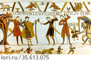 Bayeux Tapestry 1067:  In 1064 messengers from William of Normandy... Редакционное фото, агентство World History Archive / Фотобанк Лори