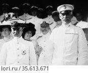 Admiral Togo Heihachiro (1848-1934), Japanese naval hero, with Major... Редакционное фото, агентство World History Archive / Фотобанк Лори