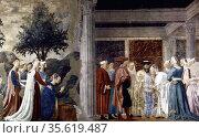 Piero Della Francesca (Sansepolcro, 1416-1417 -1492) . Adoration ... Редакционное фото, агентство World History Archive / Фотобанк Лори