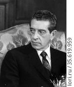 Adolfo Lopez Mateos (26 May 1909 – 22 September 1969) was a Mexican... Редакционное фото, агентство World History Archive / Фотобанк Лори