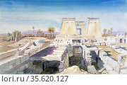 Karnak', 1863. Watercolour. Charles Vacher (1818-1883), British artist... Редакционное фото, агентство World History Archive / Фотобанк Лори
