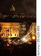 Arlington, Virginia (Sept. 11, 2001) -– Smoke and flames rose over... Редакционное фото, агентство World History Archive / Фотобанк Лори