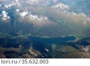 The Alps, one of the mountain range systems of Europe, stretching... Редакционное фото, агентство World History Archive / Фотобанк Лори