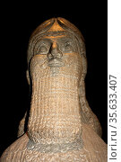 Winged human - Headed bull. Assyrian, About 865-860 BC. From Nimrud... (2009 год). Редакционное фото, агентство World History Archive / Фотобанк Лори