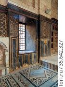 Hall at ottoman era historic house of Moustafa Gaafar Al Seleehdar... Стоковое фото, фотограф Zoonar.com/Khaled ElAdawy / easy Fotostock / Фотобанк Лори