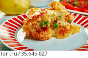 Gatto' di patate con ragu, potato with meat casserole, Sicilian cuisine... Стоковое фото, фотограф Zoonar.com/MYCHKO / easy Fotostock / Фотобанк Лори