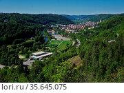 Neckartal, Horb, Baden Württemberg, Deutschland. Стоковое фото, фотограф Zoonar.com/Jürgen Vogt / easy Fotostock / Фотобанк Лори