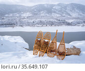 Winter scenery of Horsetooth Reservoir in northern Colorado with classic... Стоковое фото, фотограф Zoonar.com/Marek Uliasz / easy Fotostock / Фотобанк Лори