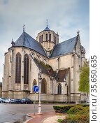 Saint Michel Church from 16 century in Dijon, France. View from apse. Стоковое фото, фотограф Zoonar.com/Boris Breytman / easy Fotostock / Фотобанк Лори