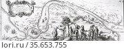 17th century Dutch East India Company map of the  Strait of Magellan... Редакционное фото, агентство World History Archive / Фотобанк Лори