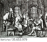 Jacob Reer interrogated in the dungeon (May 9 1569)  a 'disputation... Редакционное фото, агентство World History Archive / Фотобанк Лори