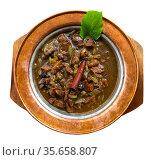 Turkish mutancana from lamb stewed with dried fruits. Стоковое фото, фотограф Яков Филимонов / Фотобанк Лори