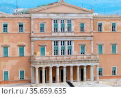 Parliament House (Old Royal Palace) the Hellenic Parliament building... Редакционное фото, агентство World History Archive / Фотобанк Лори