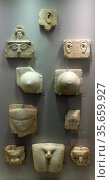 Marble votive plaques.  The dedication of models or depictions of... Редакционное фото, агентство World History Archive / Фотобанк Лори