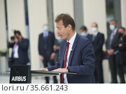 Guillaume Faury, AIRBUS CEO attends the Opening of the new Airbus... Редакционное фото, фотограф ©MANUEL CEDRON / age Fotostock / Фотобанк Лори
